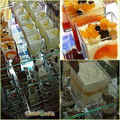 Tanti colorati mini dessert e mousse gelato ai gusti ricotta e pera, panna e nutella, tiramisù, limone, fragola, arancia, nocciola, pistacchio, cioccolato. Deliziosi da presentare, squisiti da gustare! Buona giornata a tutti....
