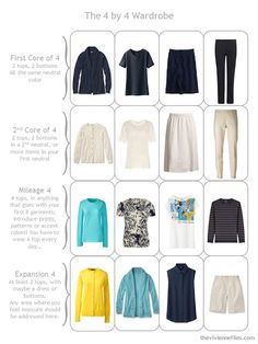 The Vivienne Files Capsule Wardrobe from Janice the queen of #Capsule Wardrobes... http://www.over50feeling40.com
