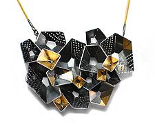 "Origami Necklace #4 by Sophia Hu (Gold & Silver Necklace) (3.5"" x 2.5"")"
