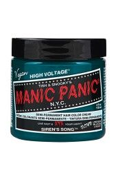 Sally Beauty offers Manic Panic Semi-Permanent Hair Colors for a bold and fearless hair color that last weeks. Manic Panic is a direct hair dye that requires no mixing, and is PPD, ammonia, and paraben-free. Vegan and cruelty-free formula. Cabello Manic Panic, Cheveux Manic Panic, Manic Panic Hair Color, Manic Panic Colors, Manic Panic Turquoise, Purple Haze, Deep Purple, Color Fuchsia, Bold Colors
