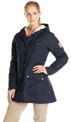 Fjallraven Womens Greenland Winter Parka Dark Navy Small -- Visit the image link more details. (This is an affiliate link)