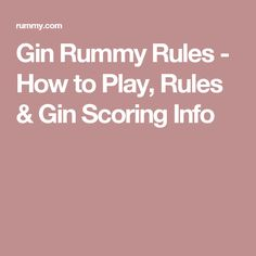 rummy rules 2 players