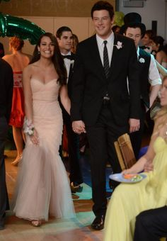 """""""Rachel and Finn in the 'Prom-asaurus' episode. Original Air Date 5/8/2012."""" <----my perfect prom king + queen."""