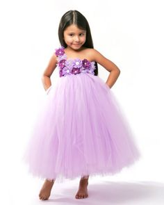 Lavender Chic Couture Flower Girl Tutu Dress