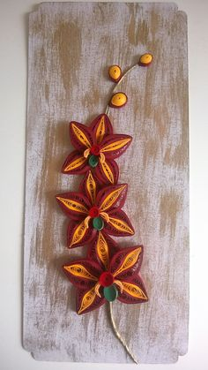Quilled orchid
