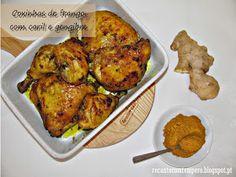 Recanto com Tempero: Coxinhas de frango com caril e gengibre