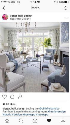 Living Room - Amanda Carol Interiors White base colors can ...