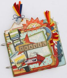 Great mini album for your travel adventures ... kits for purchase