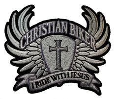 I Ride with Jesus Christian Biker Wings Cross Motorcycle Rider Iron on Patch D33  http://bikeraa.com/i-ride-with-jesus-christian-biker-wings-cross-motorcycle-rider-iron-on-patch-d33/