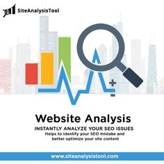 Site Analysis Tool - Instantly analyze your SEO issues! Help to identify your SEO mistake & better optimize your site content. Website Optimization, Seo Optimization, Search Engine Optimization, Best Seo Tools, Free Seo Tools, Website Analysis, Seo Analysis, On Page Seo