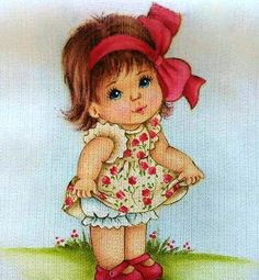 Little Girl Drawing, Image Mix, Doll Face Paint, Henna Candles, Diwali Craft, Holly Hobbie, Mini Canvas, Disney Tattoos, Cute Love