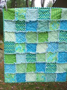 Lime Pink Purple Turquoise Cottage •~• quilt Aqua Quilt, Green Quilt, Baby Rag Quilts, Boy Quilts, Turquoise Cottage, Power Colors, Blue Hydrangea, Sewing Projects, Sewing Ideas