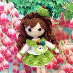 Little Green Apple Dolly as sweet and pretty as the tulip flower