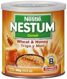 Nestle Nestum Cereal - Wheat & Honey is a healthy and natural way to start the day with vitamin b. (Keywords: Natural, Wheat, Honey, Cereal, Oatmeal, Vitamin B, Healthy, Breakfast, Hot Cereal)