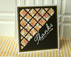 Homespun with Heart—die cut text paper and use bright solid overlay.
