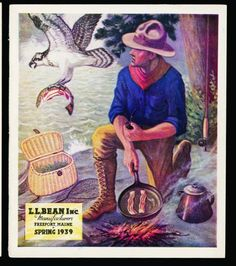 The cover of the Spring 1939 L.L. Bean catalog is one of many vintage company images included in the 100th anniversary edition of Hunting, Fishing and Camping.""