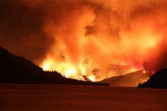 The Wolverine Fire from Stehekin on August 1, 2015. Photo by Corey Jo Walsh.;;;;Lake Chelan, Washington