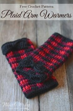 Crochet Plaid Arm Warmers Whistle & Ivy