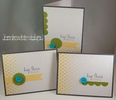 Cards made with the Stampin' Up! Paper Pumpkin Welcome Kit #cardmaking #handmade #stampinup