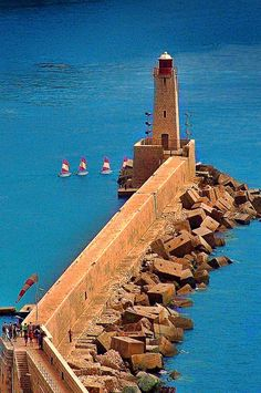 Lighthouse of Nice, France