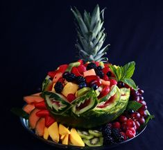 How to Carve a Watermelon Fruit Bowl – Caladium Style! | Celebration Generation: Food, Life, Kitties!
