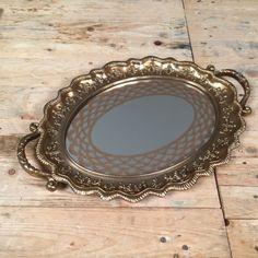 Δίσκος Γάμου Χρυσό-Μπρονζέ Καθρέφτη