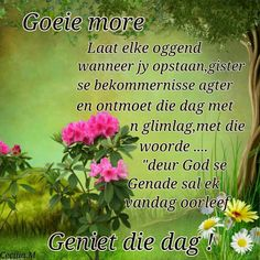 Good Morning Wishes, Day Wishes, Lekker Dag, Evening Greetings, Afrikaanse Quotes, Goeie More, Best Quotes, Verses, Bible