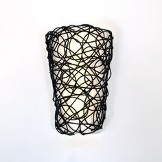 Battery Operated Wall Sconce (No Remote) - Wicker Style with Candle Flicker Mode - $41.99