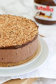 How to make the best ever NO BAKE NUTELLA CHEESECAKE! (With VIDEO tutorial!) This delicious cheesecake is the ultimate in Nutella, chocolate and hazelnut indulgence. This no bake dessert is quick and simple, easy enough for anyone, this is a must try pudding recipe! http://www.tamingtwins.com