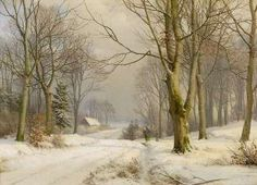 Artwork by Anders Andersen-Lundby, Winter Forest, Made of Oil on canvas