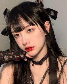 Ulzzang Korean Girl, Cute Korean Girl, Aesthetic Makeup, Aesthetic Girl, Uzzlang Girl, Pretty Black Girls, Cute Girl Photo, Ulzzang Fashion, Korean Outfits