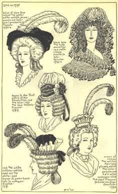 Ladies Hats, 1780's-1790's