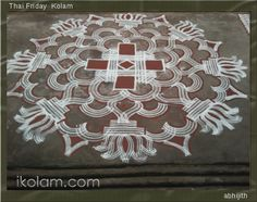 Rangoli Designs | m.iKolam.com Indian Rangoli Designs, Rangoli Designs Latest, Rangoli Border Designs, Rangoli Designs With Dots, Rangoli Designs Images, Beautiful Rangoli Designs, Rangoli Borders, Kolam Rangoli, Padi Kolam