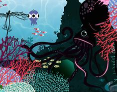 """Check out new work on my @Behance portfolio: """"fish & friends"""" http://be.net/gallery/61824313/fish-friends"""