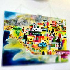 いつも、お墓参りの後によるレストラン「サントル・ドゥ・ヴィラージュ」にて、  大阪芸術大学の「野々原なつた」さんという学生さんが個展をひらかれてました。  とても素敵な作品だったんで、思わず「パシャリ」 (๑′ᴗ'๑)ღ   http://r.tabelog.com/osaka/A2708/A270802/27011793/ - @taq156   Webstagram
