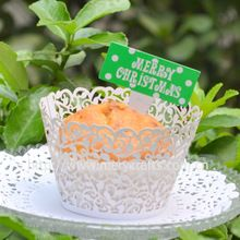 """Free shipping for wedding supplies """"little vine"""" wedding cake decorative cupcake wrappers(China (Mainland))"""