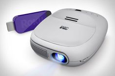 Watch movies on the fly with the 3M Streaming Projector by Roku that fits in the palm of your hand.