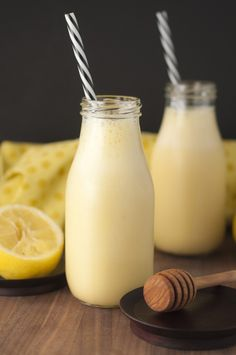 Creamy, fruity citrus Sunshine Lemon Smoothie recipe is the perfect breakfast, snack, or immune-boosting drink when you're feeling under the weather!