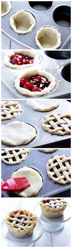 DIY Mini Pies baking recipe pies recipes ingredients instructions desert recipes easy recipes desert recipe