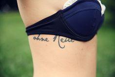 ohne Reue - without regrets    Dark blue custom bikini by www.surania.com