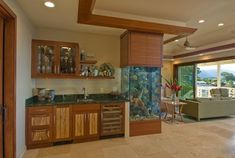 Aquarium - The Bay House - tropical - living room - hawaii - Archipelago Hawaii, refined island designs