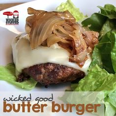 Juicy as heck! The last low carb burger recipe you'll ever need! #keto #lowcarb #lactopaleo