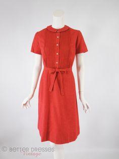 Shirtwaist style dress 1960s