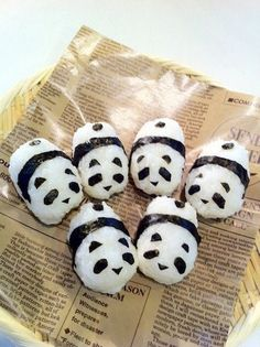 (1) OMG Panda Onigiri! DIY video: How to Make Onigiri, Japanese Rice Ball | Japanese food | Pinterest