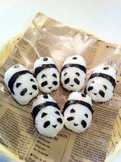 (1) OMG Panda Onigiri! DIY video: How to Make Onigiri, Japanese Rice Ball | Japanese food | Pinterest