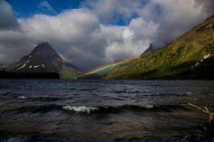 Double Rainbow Over Two Medicine Lake (Glacier National Park, MT) [5472 x 3648] - Nature and Science