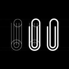 (CA) Procés de disseny d'una icon de clip  (EN) Paperclip icon design process     by Rodrigo Müller, via Flickr