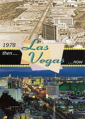 Postcard comparing the strip then and now!