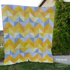 Pieces by Polly: January Skies Quilt - Free Half-Square Triangle Quilt Pattern - Queen-Sized
