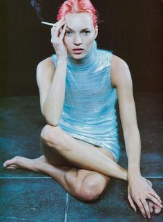 Vogue IT - Basic Chemical Daywear - Kate Moss - Feb 1999 by Peter Lindbergh